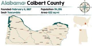 Alabama: Colbert okręg administracyjny ilustracja wektor