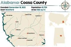Alabama: Coosa okręg administracyjny Obrazy Royalty Free