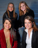 Alabama Corporates. Four cute girls on steps Stock Photo
