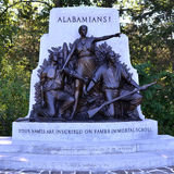 Alabama Division Monument at Gettysburg, Pennsylvania Royalty Free Stock Images