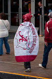 Alabama fan W Caped kostiumu Chodzi W kierunku Gruzja kopuły Fotografia Stock