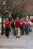 Alabama Fans Walk Toward Georgia Dome For SEC Title Game Royalty Free Stock Photo