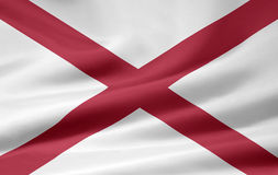alabama flagę Obraz Royalty Free