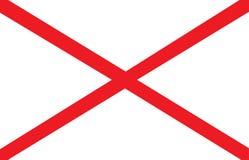 Alabama flag. State of Alabama vector flag illustration Royalty Free Stock Image