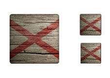 Alabama Flag Buttons Royalty Free Stock Images