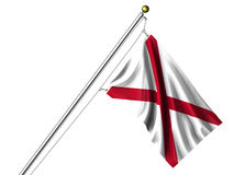 alabama flaga odizolowywająca Zdjęcia Stock