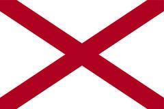alabama flagga Royaltyfri Bild