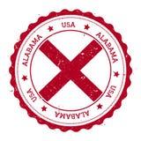 Alabama flaggaemblem Royaltyfria Bilder
