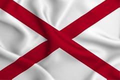 Alabama flaggaillustration royaltyfri illustrationer