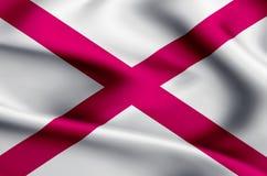 Alabama flaggaillustration stock illustrationer
