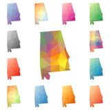 Alabama geometryczny poligonalny, mozaika styl my royalty ilustracja