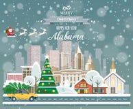 Alabama, glad jul och ett lyckligt nytt år! Arkivfoto