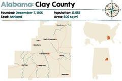 Alabama: Gliniany okręg administracyjny Obrazy Stock