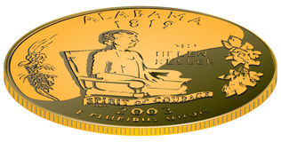Alabama - gold coin Stock Image