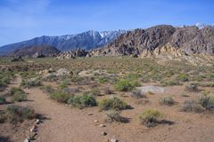 Alabama Hills Stock Image
