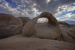 Alabama Hills Arch. Arched Rock in the Alabama hills framing Mt. Whitney Stock Images