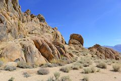 Alabama Hills, in the Easter Sierra Royalty Free Stock Image