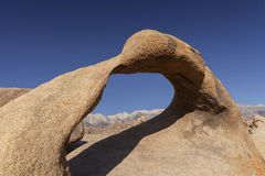 Alabama Hills. A historic symbol of the American West with Mt. Whitney in the background Stock Photo