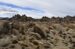 Alabama Hills Landscape and Background. This is a desert location in the Alabama Hills of eastern California in the Sierra Nevada mountain range where many Stock Photos