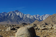 Alabama Hills with Mount Whitney. And neighbors in California Stock Images
