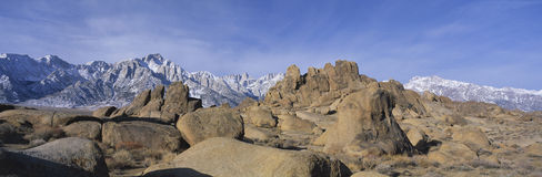 Alabama Hills and Mt. Whitney, CA Stock Photography