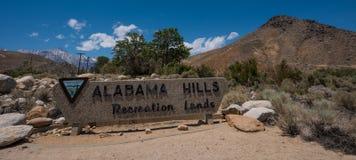 Alabama Hills Recreation Lands Royalty Free Stock Photo