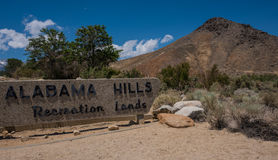 Alabama Hills Recreation Lands Stock Images