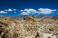 Alabama Hills rock formation, Sierra Nevada Stock Image