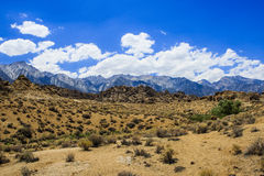 Alabama Hills rock formation, Sierra Nevada Stock Photos