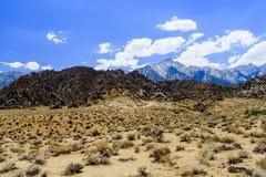 Alabama Hills rock formation, Sierra Nevada Royalty Free Stock Photos