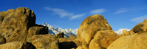 Alabama Hills in Sierra Nevada Mountains, California Royalty Free Stock Photography
