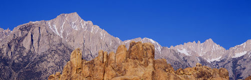 Alabama Hills in Sierra Nevada Mountains, California Stock Images