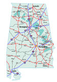 Alabama Interstate Highway Map Stock Photography