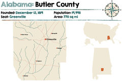 Alabama: Kamerdynerski okręg administracyjny Fotografia Royalty Free