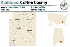 Alabama: Kawowy okręg administracyjny Obraz Stock