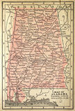 Alabama map Royalty Free Stock Images
