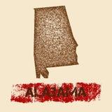Alabama martwił mapę royalty ilustracja