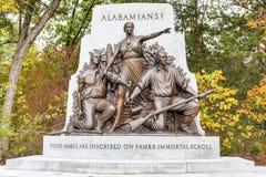 Alabama minnes- monument, Gettysburg, PA Royaltyfri Foto