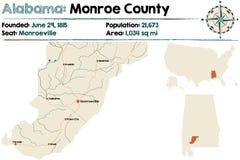 Alabama: Monroe okręg administracyjny Fotografia Stock