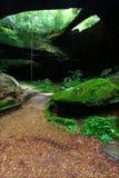 Alabama Natural Rock Bridge. Natural Rock Bridge spans the lush forests of Alabama in the southern USA Royalty Free Stock Photo