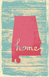 Alabama nostalgic rustic vintage state vector sign. Rustic vintage style U.S. state poster in layered easy-editable vector format Stock Photo