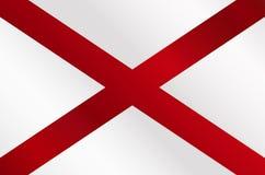 Alabama Sate Flag Gloss. The flag of the United States stae Alabama Royalty Free Stock Photos