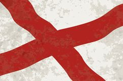 Alabama Sate Flag Grunge. The flag of the United States state Alabama with grunge effect Stock Image