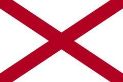 Alabama stanu flaga ameryki stany zjednoczone jpg royalty ilustracja