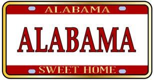 Alabama stanu imienia tablica rejestracyjna Zdjęcia Royalty Free