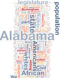Alabama state background concept Royalty Free Stock Images