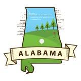 alabama state map. Vector illustration decorative design