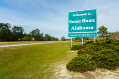 Alabama state sign Royalty Free Stock Image