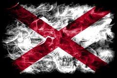 Alabama state smoke flag, United States Of America.  stock photography