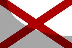 Alabama Syci flagę Z cieniem ilustracja wektor